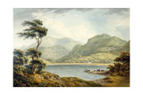 The Upper End of Coniston Lake, Lancashire, 1801 Giclee Print by John Warwick Smith