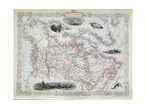 Map of British America Giclee Print by John Rapkin