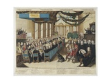 Feast on the Occasion of the Nuremberg Peace Process in the City Hall, 25 September 1649,… Giclee Print by Joachim Von Sandrart
