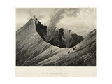 View of the Crater of Etna, Engraved by Newton Fielding (1799-1856) Giclee Print by Comte de Forbin