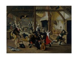 Soldiers Plundering a Farm During the Thirty Years' War, 1620 Giclée-Druck von Sebastian Vrancx