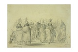 Dance of the Mandan Women, C.1833-43 Giclee Print by Karl Bodmer