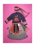 Woman's Dress and Basketry Hat, Ch'uan Miao Giclee Print