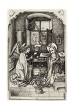 The Annunciation, from 'A Catalogue of a Collection of Engravings, Etchings and Woodcuts', by… Giclee Print by Wenzel or Wenceslaus von Olmutz