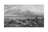 Town and Isthmus of Corinth Seen from the Acropolis, Engraved by W. Miller, from 'The Imperial… Giclee Print by Samuel Bough