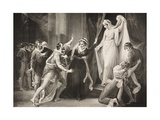 A Chapel in Paulina's House, Act V, Scene III, from 'The Winter's Tale', from the Boydell… Giclee Print by William Hamilton