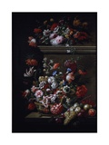 Still Life of Flowers Giclee Print by  J-B Monnoyer and Jakob Bogdany