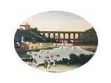 The Boqueirao Lagoon with the Lapa Aqueduct, Rio De Janeiro Giclee Print by Leandro Joaquim