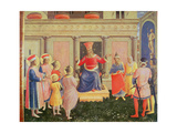 Saints Cosmas and Damian and their Brothers before the Proconsul Lysias, from the Predella of the… Giclee Print by  Fra Angelico