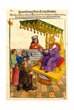 Sigismund Performs His Feudal Duties at the Council of Constance, from 'Chronik Des Konzils Von… Giclee Print by Ulrich Von Richental