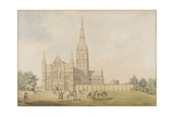 Salisbury Cathedral, C.1789 Giclee Print by Samuel Hieronymous Grimm
