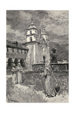 Fountain and Mission, Santa Barbara, California, from 'The Century Illustrated Monthly Magazine',… Giclee Print by Henry Sandham