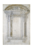 Study of a Window with a Semi-Circular Gable, C.1546 Giclee Print by  Michelangelo Buonarroti