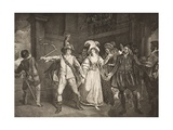 Padua, before Baptista's House, Act III, Scene II, from 'The Taming of the Shrew', from the… Giclee Print by Francis Wheatley