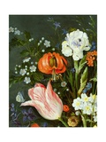 Still Life with Flowers and Strawberries (Detail) Giclee Print by Jan the Younger Brueghel