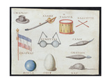 Illustrations from 'A French Alphabet Book of 1814', Pub. by Charles Plante Fine Arts, 1814 Giclee Print by Arnaud de Beauregard