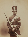 Colour-Sergeant John Paul, Royal Sappers and Miners, 1856 Photographic Print by  Joseph Cundall and Robert Howlett
