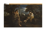 Mercury Putting Argus to Sleep, C.1645-55 Giclée-tryk af Pier Francesco Mola