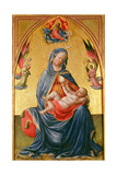 Virgin and Child with God the Father, Holy Spirit and Angels Giclee Print by Tommaso Masolino Da Panicale
