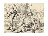 Father William Balancing an Eel on His Nose, from 'Alice's Adventures in Wonderland' by Lewis… Giclee Print by John Tenniel