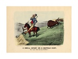 A Swell Sport on a Buffalo Hunt, Pub. by Currier and Ives, 1882 Giclee Print by Thomas Worth