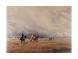 Lancaster Sands, Morecambe Bay (Treasures) 1842 Giclee Print by David Y. Cox
