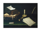 Still Life of Books and Letters Giclee Print by Lubin Baugin