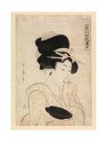 Courtesan Holding a Sake Cup, C.1790-1806 Giclee Print by Kitagawa Utamaro