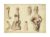 Phallic Emblems from Tel Jagur, Mr Shapira's Collection, 1872 Giclee Print by Claude Conder