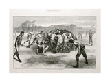 A Match at Football: the Last Scrimmage', from 'The Illustrated London News', 25th November 1871 Giclee Print by Edwin Buckman