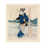 Geisha on the Balcony of a Cherry Tree Pavilion, C.1830 Giclee Print by Ichiyusai Kuniyoshi