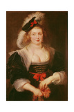Portrait of Helene Fourment with Gloves, C.1632 Reproduction procédé giclée par Peter Paul Rubens