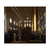 Portuguese Synagogue in Amsterdam, C.1680 Giclee Print by Emanuel de Witte