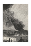 A Burning Oil Tank, Capacity 3500 Barrels, from 'The Century Illustrated Monthly Magazine', May… Giclee Print by Henry Francois Farny