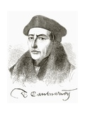 Thomas Cranmer, from 'The National and Domestic History of England' by William Hickman Smith… Giclee Print