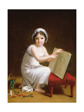 Child Pointing at a Drawing of Cupid Giclee Print by Jeanne-Elisabeth Chaudet