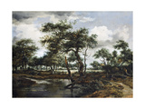 A Pond in the Forest, 1668 Giclee Print by Meindert Hobbema