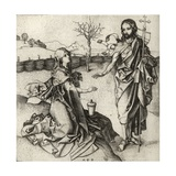 Our Saviour Appearing to Mary Magdalene in the Garden, from 'A Catalogue of a Collection of… Giclee Print by Martin Schongauer