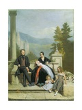 Henry Granville Fitzalan Howard with Minna Lyons and His Three Elder Children, 1845 Giclee Print by Victor Dartiguenave