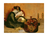 Polishing Pans Giclee Print by Marianne Stokes