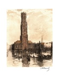 The Belfry of Bruges, Belgium Giclee Print