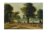 The Serpentine, Hyde Park Giclee Print by George Sidney Shepherd