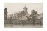 View of St. Thomas's Church, Salisbury, from the River, 1834 Giclee Print by J. Fisher