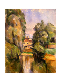 Country House by the Water, C.1888 Giclee Print by Paul Cézanne