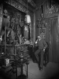 Pierre Loti in His House at Rochefort, the Chinese Lounge, Late 19th Century Photographic Print by  Dornac