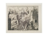 The Sack of Magdeburg by the Imperial Army, November 1630-20, May 1631, Between 1726-27 Giclee Print by German School