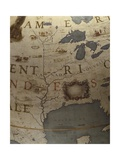 Terrestrial Globe, Detail of the Gulf of Mexico, 1683 Giclee Print by Vincenzo Maria Coronelli