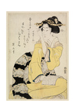 Seated Courtesan with a Book, C.1804-29 Giclee Print by Kitugawa Eizan