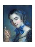 Portrait of a Young Girl, C.1750 Giclee Print by Jean-Marc Nattier