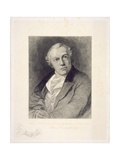 Portrait of William Blake, Engraved by William Bell Scott (1811-90) Giclee Print by Thomas Phillips